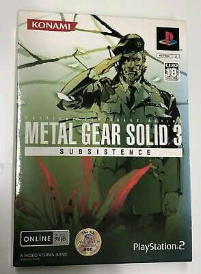 Metal Gear Solid 3 Subsistence Limited Edition PS2 - Japanese Import JP JAP NTSC