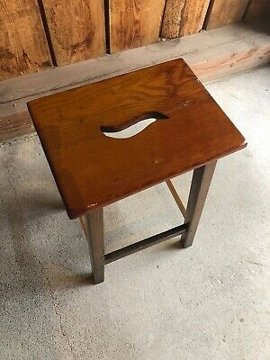 Vintage Wooden Tall Stool Great Patina