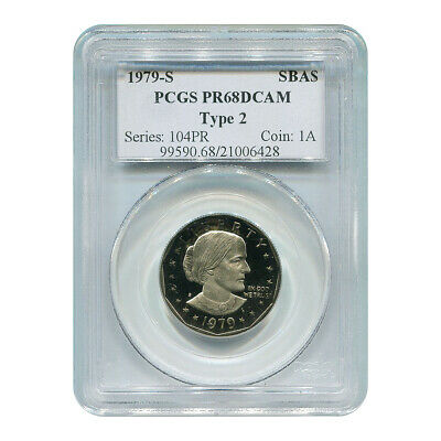 Certified Susan B. Anthony Dollar 1979-S Type II PR68DCAM PCGS