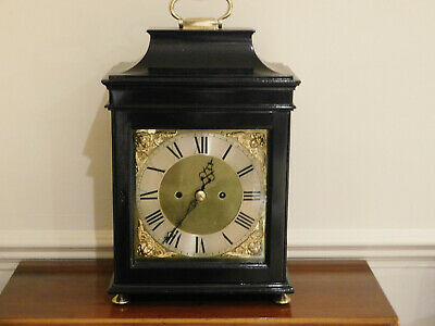 Antique Double Fusee Verge English Bracket Clock.