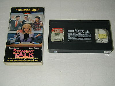 Straight Talk Dolly Parton, James Woods Comedy Vhs Rare Htf Oop