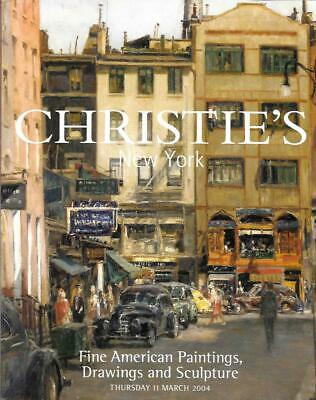 Christie's Sale 1351 American Paintings Sculpture Drawings Auction Catalog 2004