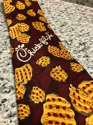 RARE CHICK-FIL-A WAFFLE French Fries Silk Necktie Tie