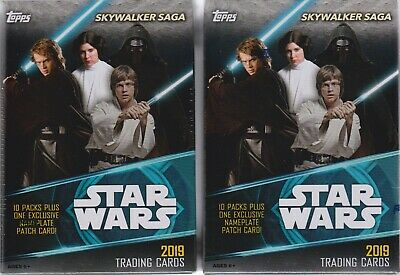 (2) 2019 Topps Star Wars SKYWALKER SAGA Trading Cards New 61c Blaster Box LOT