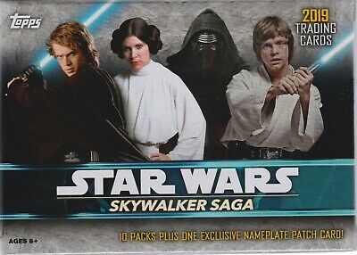2019 Topps Star Wars SKYWALKER SAGA Trading Cards New 61c Blaster Box =1 Hit/box