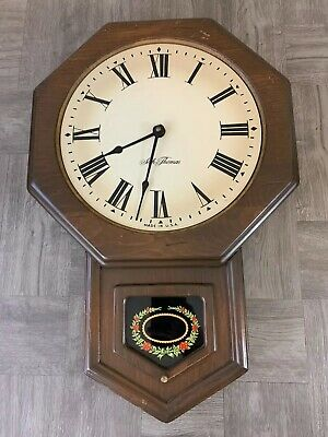 Seth Thomas golden rule e477-000 Tested Working, Great Clock Great Look