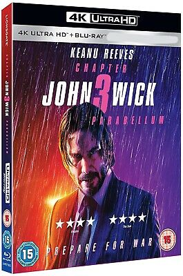JOHN WICK: CHAPTER 3 - PARABELLUM (2019): Keanu Reeves - NEW Eu RgB 4K + BLU-RAY