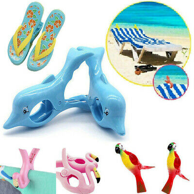 1PC Plastic Sun Lounger Beach Towel Wind Clips Sunbed Pegs Pool Towel Clips