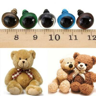 DIY Craft 100pcs Mixed Color Plastic Safety Eyes for Teddy Bear Soft Animal AU