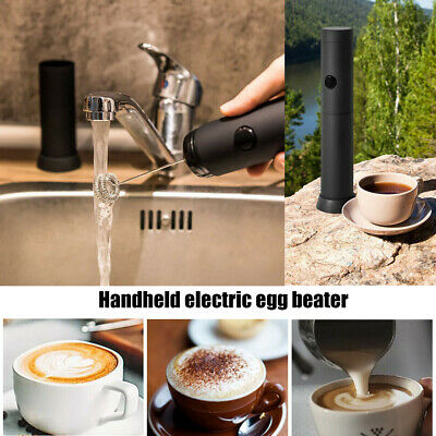 Electric Milk Coffee Latte Chocolate Frother Foam Whip Cordless Mixer Blend