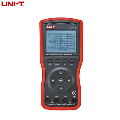 UNIT UT265B Intelligent 2Phase Clamp Voltammeter 600V Ammeter with LCD Backlight