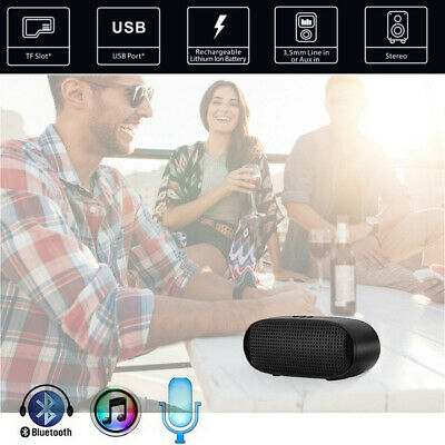 Portable Wireless Bluetooth Stereo Sound SDCard Speaker For Smartphone Tablet PC