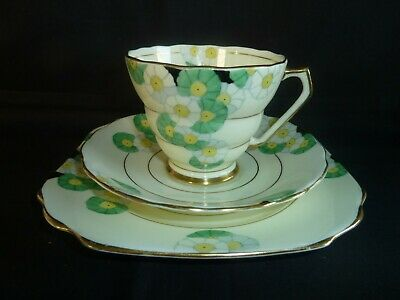 Art Deco Radfords China Cup Saucer & Plate Trio Cotswold Pattern 5 Available