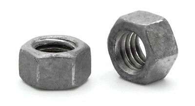"Hot Dip Galvanized Steel Hex Nuts HDG Dipped Hex Finished Nuts - 1/4"" to 3"""