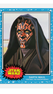 Topps Star Wars Living Set Card Darth Maul #25 Star Wars The Phantom Menace