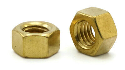 """Brass Hex Nuts Standard Brass Hex Finished Nuts - 1/4"""" through 1"""""""