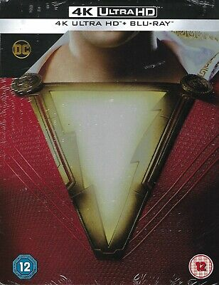 Shazam! 2-Disc Limited Edition 4K Ultra-HD SteelBook (Region Free UK Import)
