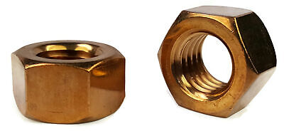 """Silicon Bronze Hex Nuts Marine Grade Hex Finished Nuts - 1/4"""" through 1"""""""