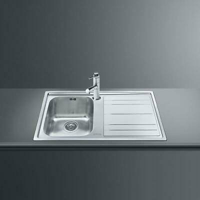 Smeg LEH861D Basin Sink Recessed Stainless AISI304 Brushed 86 CM