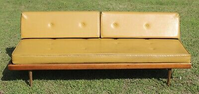 vintage mid century danish modern daybed settee sofa 60's 50's pearsall tapered