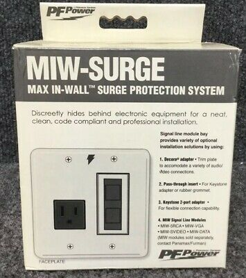 PF Power MIW Power-Pro PFP In-wall surge protector NEW