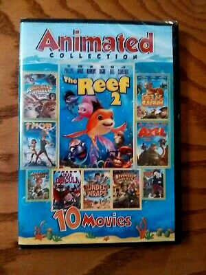 10 Movie Animated Collection (2-DVD) NEW! Delhi Safari, Under Wraps, The Reef 2