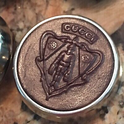 Authentic  GUCCI  buttons Warrior Set Of 4, 20mm And 25mm For Coat ,Brown