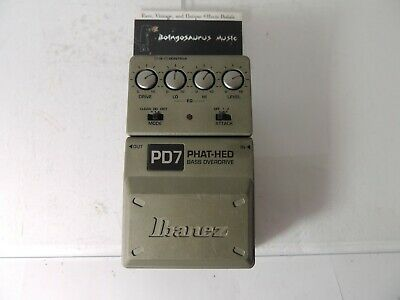 Ibanez PD7 Tonelok Phat Hed Bass Overdrive Effects Pedal Free USA Ship