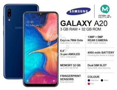 Brand New Samsung Galaxy A20 *2019 Model* 32Gb Dual Sim 4G Lte Unlock Blue