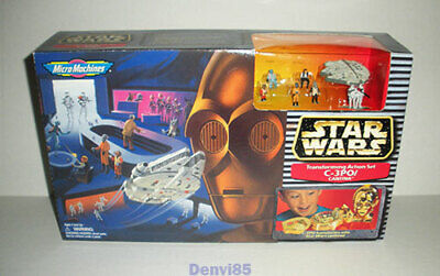 VINTAGE! 1997 Star Wars Micro Machines C3PO/CANTINA Set #65811! NEW!