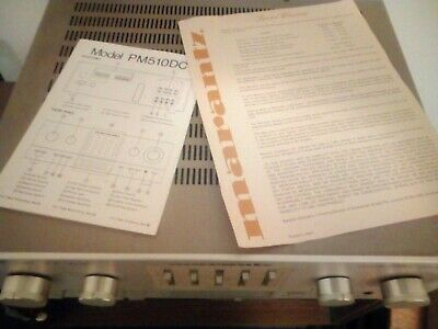 User manual and warranty for  MARANTZ PM 510 DC