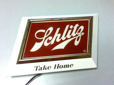 Schlitz beer sign lighted bar light vintage wall display brewery illuminated AH6
