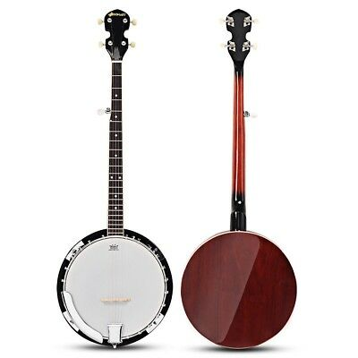 Sonart 5 String Geared Tunable Banjo with Case Digital Tuner Musical Instrument