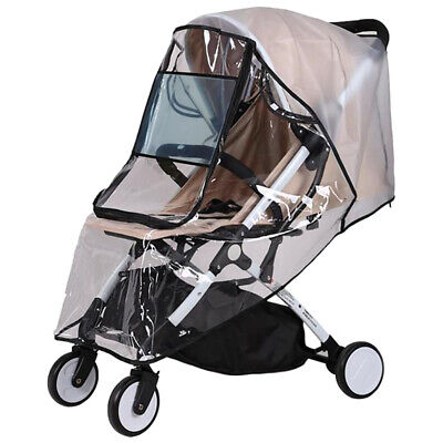 Universal Waterproof Zipper Plastic Non Toxic Rain Cover For Baby Stroller Clear