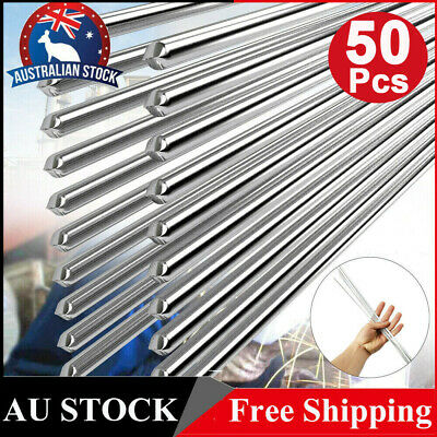 20Pcs Low Temperature Aluminum Flux Cored Easy Melt Welding Wire Rod 2mmx50cm AU