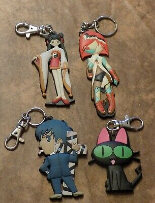 4 collectible anime keychains