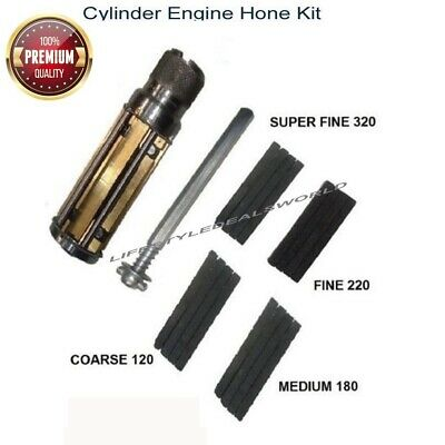 "Cylinder Engine Hone Kit 34 To 60mm + 2.1/2"" To 5.1/2"" Honing Machine With Stone"