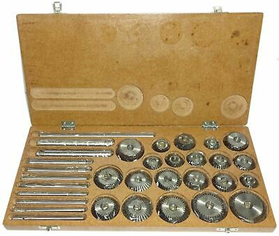 Valve Seat & Face Cutter Set 21 Pcs Set For Vintage Cars & Bikes