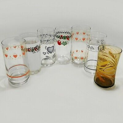 Corning Ware Corelle Coordinates Drinking Glasses Tumblers Libbey Coolers