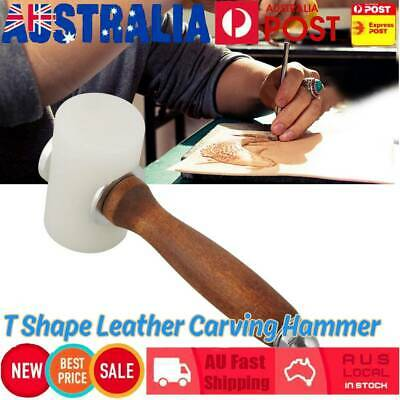T Shape Wooden Handle Nylon Hammer Leather Carving Mallet for DIY Leather Craft