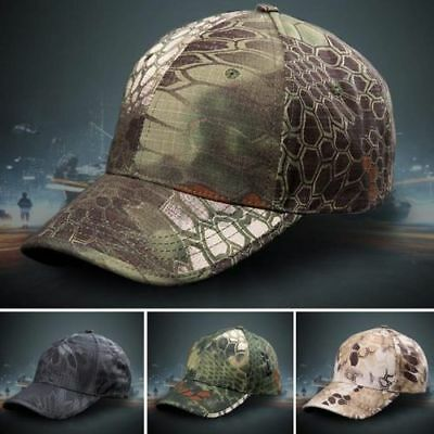 Men Camo Camouflage Hat Adjustable Camo Hunting Fishing Military Baseball Cap