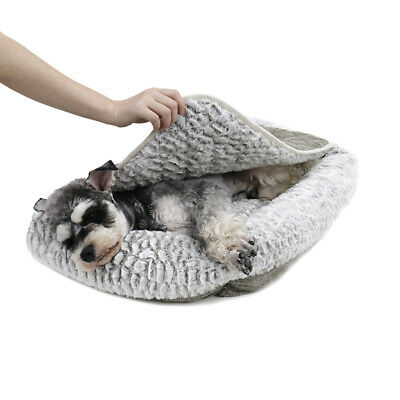 S Pet Dog Cat Sofa Bed PV Fold Out Couch/Chair Protector Grey Fleece Washable