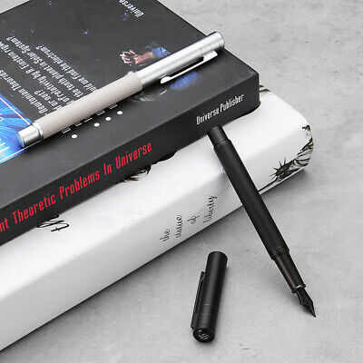 HongDian Writing Fountain Pen With F Black/White Nib Converter Pen Smooth