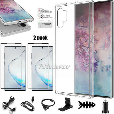 For Samsung Galaxy Note 10 Plus 5G Clear Case Cover Screen Protector Accessories