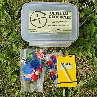 Clear Ready to Hide Geocaches Clip-Lock Waterproof Durable Set, in S M L sizes