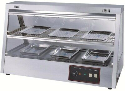 Electric Commercial Buffet Chafing Dish Stainless Steel Food Warmer (2-layer)