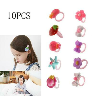 10Pcs Wholesale Mixed Lots Cute Cartoon Children/Kids Resin Rings Jewelry Gifts