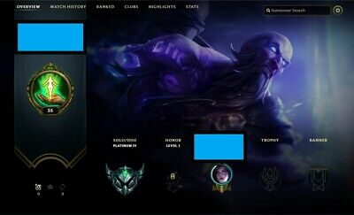 💎 EUW League  of legends Platinum 4 account / 70%+ winrate / LoL💎