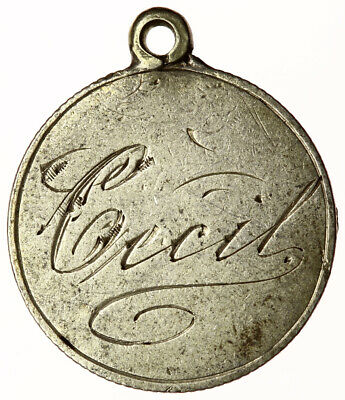 CECIL Engraved on Edward VII Silver Sixpence ~ Charm / Love Token