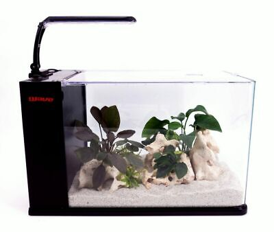 Eau Orion 40 IN Noir Mini-Aquarium Nano Complet + LED & Clair de Lune
